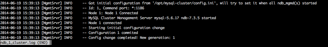mysql cluster logs